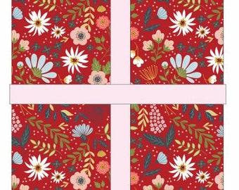 Farm Girls Unite 5-Inch Squares Charm Pack, 42 Pieces, Poppie Cotton, Precut Cotton Quilting Fabric, Floral Fabric
