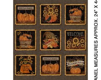 Fall Fabric, Welcome Fall Panel Fabric Yardage, Beth Albert, Benartex, Quilt Fabric, Autumn Fabric, Fall Fabric, Pumpkin Fabric