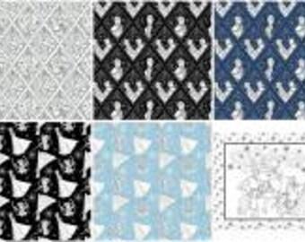Disney Frozen Coloring Fabric Fat Quarter Bundle, 13 Pieces, Camelot Fabrics, Precut Fabric, Quilt Fabric, Cotton Fabric, Elsa Fabric