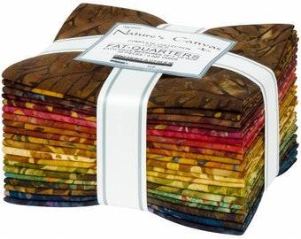 Nature's Canvas Batik Fat Quarter Bundle, 20 Pieces, Lunn Studios, Robert Kaufman, Cotton Quilt Fabric, Autumn Batik Fabric