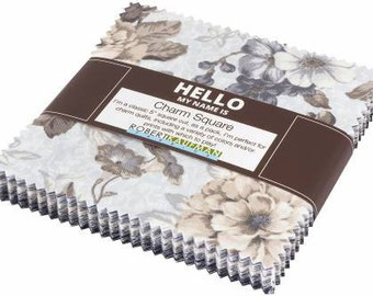 Mayfield Antique 5-Inch Squares Charm Pack, 42 Pieces, Studio RK, Robert Kaufman, Precut Fabric, Quilt Fabric, Cotton Fabric, Floral Fabric