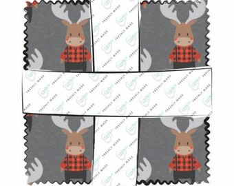 Reindeer Lodge 5-Inch Squares Charm Pack, Precut Cotton Quilting Fabric, Floral Fabric, 42 Pieces, Camelot Fabrics.
