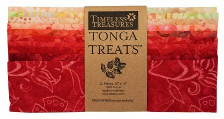 Poppy 10 Inch Squares Layer Cake, 20 Pieces, Timeless Treasures
