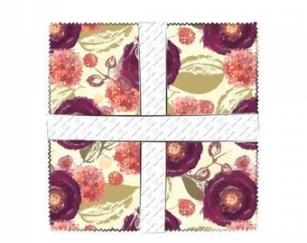 Mulberry Bloom 10 Inch Squares Layer Cake, 42 Pieces, Sara B. Collection, Camelot Fabrics, Precut Fabric, Quilt Fabric, Cotton Fabric