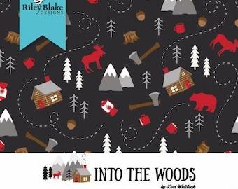 Into the Woods Fat Quarter Bundle, 24 Pieces, Lori Whitlock, Riley Blake Designs, Cotton Quilt Fabric