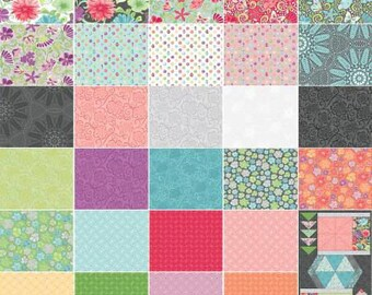 Meadow Dance 2 1/2 Inch Strips Jelly Roll, 40 Pieces, Amanda Murphy, Contempo Studio, Precut Fabric, Quilt Fabric, Cotton Fabric, Floral