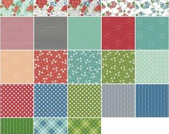 Hazel Fat Quarter Bundle, 23 Pieces, Allison Harris, Windham Fabrics, Precut Fabric, Quilt Fabric, Cotton Fabric, Floral Fabric, Plaid