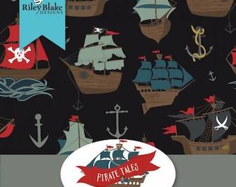 Pirate Tales Fat Quarter Bundle Precut Cotton Quilting Fabric, Pirate Fabric, 21 Pieces, Echo Park, Riley Blake Designs.