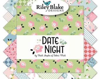 Date Night 10-Inch Squares Layer Cake, 42 Pieces, Heidi Staples, Riley Blake, Precut Fabric, Quilt Fabric, Cotton Fabric, Floral Fabric