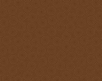 Essentials Basics Dark Brown Dotted Circles Fabric Yardage, Wilmington Prints, Cotton Quilting Fabric