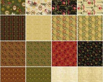 Florentine Christmas 10-Inch Squares Layer Cake, 42 Pieces, Benartex, Precut Fabric, Quilt Fabric, Cotton Fabric, Christmas Fabric