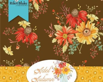 Adel in Autumn 5-Inch Squares Charm Pack, 42 Pieces, Sandy Gervais, Riley Blake Designs, Precut Cotton Quilting Fabric, Autumn Fabric