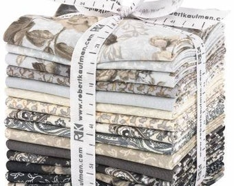Mayfield Antique Fat Quarter Bundle, 15 Pieces, Studio RK, Robert Kaufman, Precut Fabric, Quilt Fabric, Cotton Fabric, Floral Fabric
