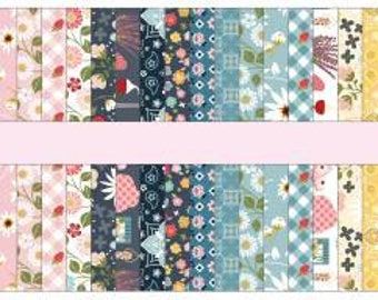 Farm Girls Unite 2-1/2 Inch Strips Jelly Roll, 54 Pieces, Poppie Cotton, Precut Cotton Quilting Fabric, Floral Fabric