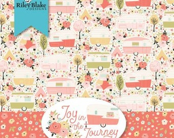 Joy in the Journey 5-Inch Squares Charm Pack, 42 Pieces, Dani Magstad, Riley Blake Designs, Cotton Quilting Fabric, Floral Fabric