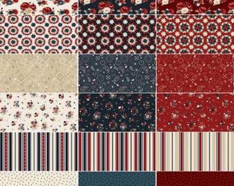 American Heritage 5-Inch Squares Charm Pack, 42 Pieces, Dani Mogstad, Penny Rose Fabrics, Precut Fabric, Quilt Fabric, Cotton Fabric, Floral