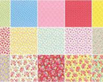 Retro 30's Child Smile Fall 2016 5-Inch Squares Charm Pack, 42 Pieces, Lecien, Precut Fabric, Quilt Fabric, Cotton Fabric, Floral Fabric
