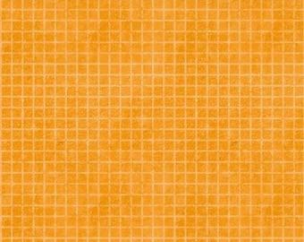 Building Dreams Orange Grid Fabric Yardage, Jennifer Pugh, Wilmington Prints, Cotton Quilt Fabric, Kids Fabric