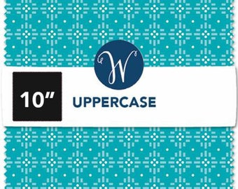 Upper Case Volume 2 10 Inch Squares Layer Cake, 42 Pieces, Janine Vangool Collection, Windham Fabrics, Precut Fabric, Quilt Fabric, Cotton