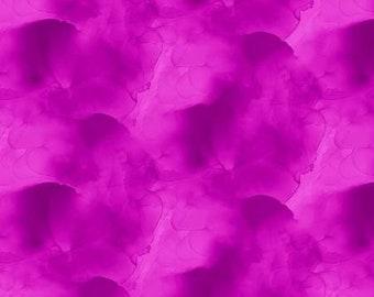 Essentials Magenta Watercolor Texture Fabric Yardage, Wilmington Prints, Cotton Quilting Fabric