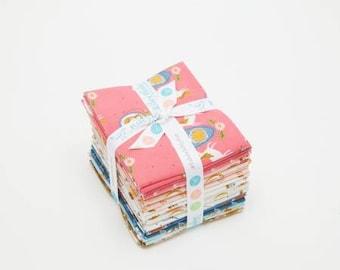 Guinevere Fat Quarter Bundle Cotton Quilting Fabric, Novelty Fabric, 21 Pieces, Rachel Erickson, Riley Blake, Precut Fabric.