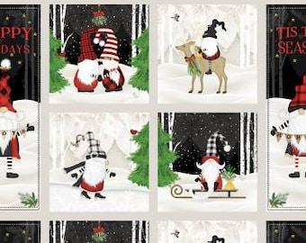 Gnomantics Craft Panel Multi Fabric Yardage, Jennifer Pugh, Wilmington Prints, Cotton Quilt Fabric