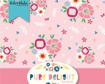 Pure Delight 2-1/2 Inch Strips Jelly Roll, 40 Pieces, Melanie Collette, Riley Blake Designs, Precut Cotton Quilt Fabric, Floral Fabric