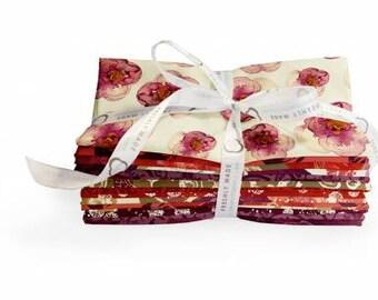 Mulberry Bloom Fat Quarter Bundle, 11 Pieces, Sara B. Collection, Camelot Fabrics, Precut Fabric, Quilt Fabric, Cotton Fabric, Floral Fabric