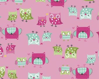 It's a Hoot Fat Quarter Bundle, 14 Pieces, Whistler Studios, Windham Fabrics, Precut Fabric, Quilt Fabric, Cotton Fabric, Owl Fabric