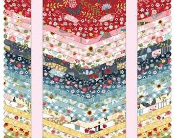 Farm Girls Unite Fat Quarter Bundle, 27 Pieces, Poppie Cotton, Precut Cotton Quilting Fabric, Floral Fabric