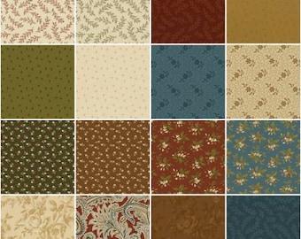 Golden Age Fat Quarter Bundle, 16 Pieces, Nancy Gere, Windham Fabrics, Precut Fabric, Cotton Fabric, Quilt Fabric, Paisley Fabric, Floral