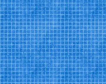 Building Dreams Blue Grid Fabric Yardage, Jennifer Pugh, Wilmington Prints, Cotton Quilt Fabric, Kids Fabric