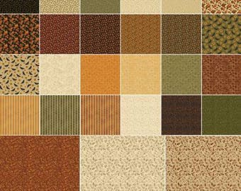 Pumpkin Patch Fat Quarter Bundle, 20 Pieces, Cheryl Hanes, Benartex, Precut Fabric, Quilt Fabric, Cotton Fabric, Autumn Fabric