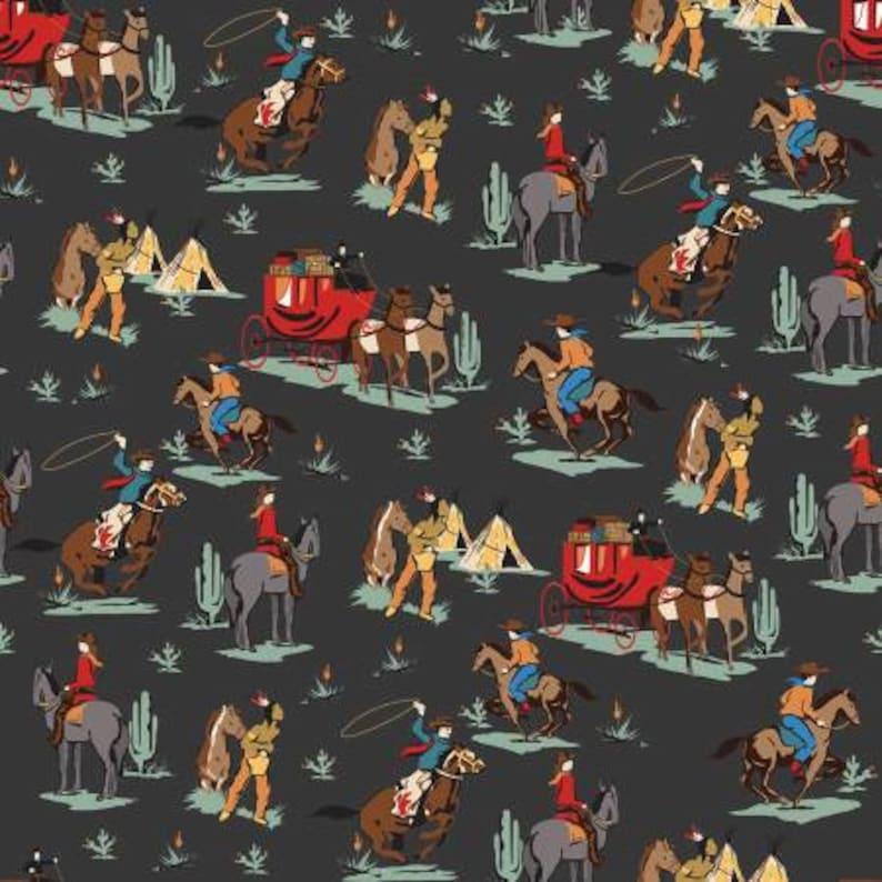 Precut Fabric 18 Pieces Quilt Fabric Cotton Fabric Riley Blake Designs Cowboy Fabric Cartabella Cowboy Country Fat Quarter Bundle