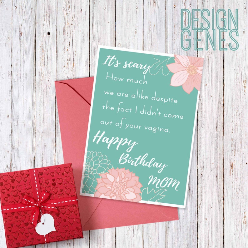 Printable Birthday Card For Stepmom Adoptive Mom Witty