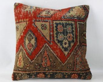 kilim cushion turkish kilim pillow  20x20inc 50x50cm turkish rug vintage pillow Kilim pillow decorative pillow handmade pillow
