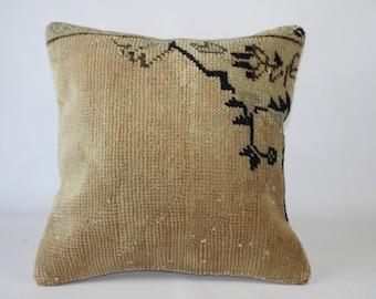 kilim pillow, turkish kilim pillow, turkish pillow, vintage pillow, decorative pillow, pillow, bohemian pillow, kilim, 50x50 (20x20) inches