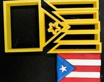 Puerto Rican Flag Cutter