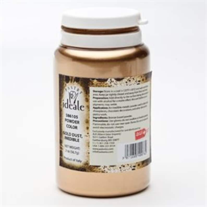 Inedible Dust Gold Luster Powder Pastry Ideale image 0