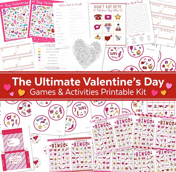The Ultimate Valentine's Day Games & Activities Printable