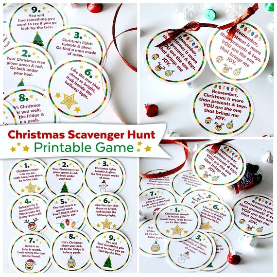 image relating to Christmas Scavenger Hunt Printable Clues named xmas scavenger hunt printable culture. xmas