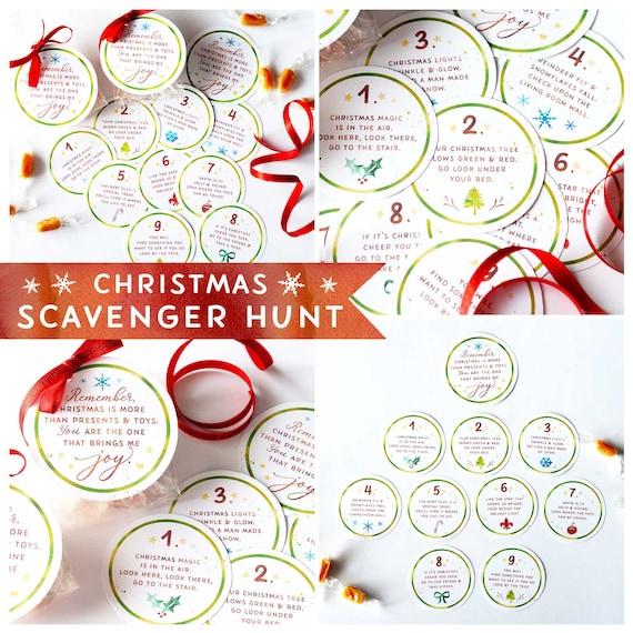 Christmas Scavenger Hunt.Christmas Scavenger Hunt Printable Game Holiday Activity For Kids Christmas Game
