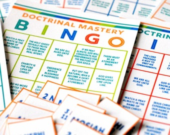Seminary Doctrinal Mastery BINGO - Book of Mormon Doctrinal Mastery Game