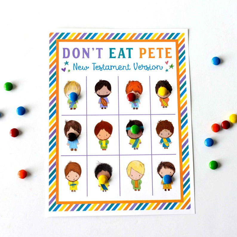 picture regarding Don T Eat Pete Printable called Dont Consume Pete Clean Testomony Edition Bible Activity for Small children
