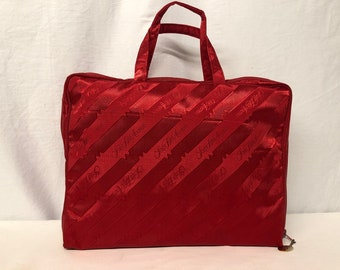 440b300419528 Vintage SFA Saks Fifth Avenue Red Overnight Make Up Cosmetic Bag
