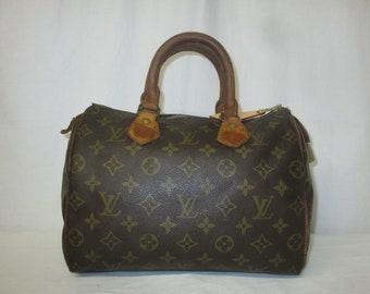 34958337da56 Vintage Louis Vuitton Monogram Speedy 25 Satchel Doctor Bag Handbag with  Lock