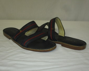 8b15f08915820e Vintage GUCCI Supreme Flat Sandals Shoes Size 43 US 11