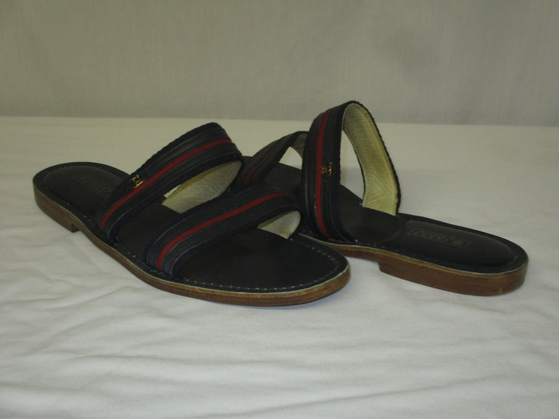 e3e87ba2e Vintage GUCCI Supreme Flat Sandals Shoes Size 43 US 11