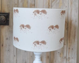 Mr and Mrs Hedgehog  lampshade