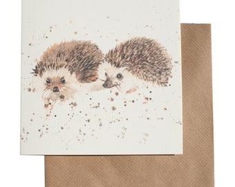 Mr and Mrs Hedgehog Card
